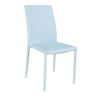 Christopher Knight Home Farrah Blue Fully Upholstered Stackable Side Chair (Set of 4)