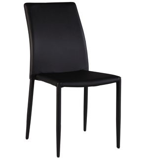 Christopher Knight Home Farrah Black Fully Upholstered Stackable Side Chair (Set of 4)