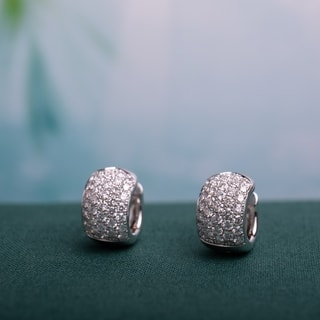 Miadora 18k White Gold 2 1/8ct TDW Diamond Cuff Earrings https://ak1.ostkcdn.com/images/products/9959838/P17112702.jpg?impolicy=medium