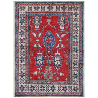 Herat Oriental Afghan Hand-knotted Tribal Kazak Wool Rug (3'8 x 4'10)