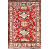 Herat Oriental Afghan Hand-knotted Tribal Kazak Wool Rug (7'7 x 10'9)