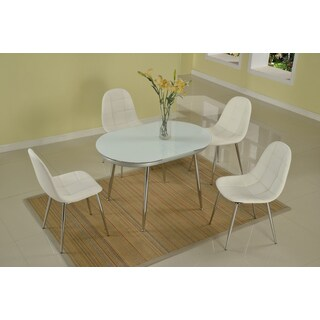 Christopher Knight Home Dolores Chrome Dining Set (Set of 5)