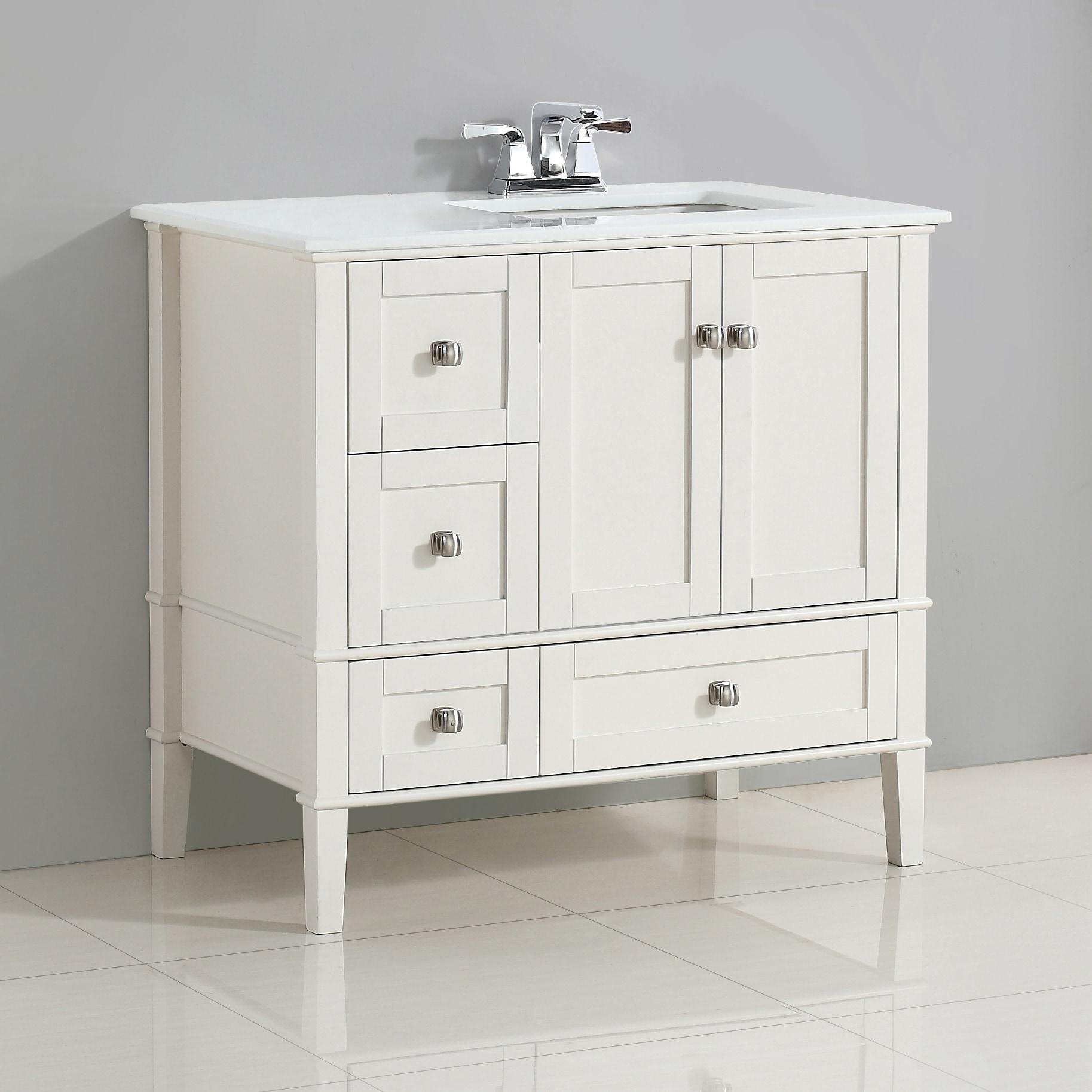 WYNDENHALL Windham 36 inch Contemporary Bath Vanity in ...