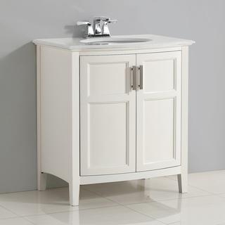 bathroom vanities 30 inch white. Wonderful Vanities WYNDENHALL Salem White 30 Inch Rounded Front Bath Vanity With Top Throughout Bathroom Vanities Inch