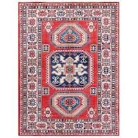 Handmade Herat Oriental Afghan Tribal Kazak Wool Rug (Afghanistan) - 9' x 12'