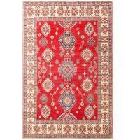 Handmade Herat Oriental Afghan Tribal Kazak Wool Rug  - 7'2 X 11' (Afghanistan)