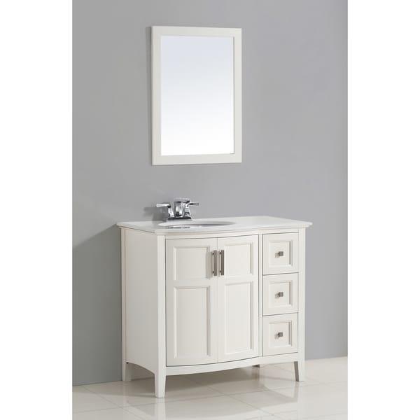 wyndenhall salem white 36 inch rounded front bath vanity