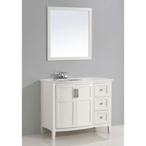 Shop Wyndenhall Salem White 2 Door 42 Inch Rounded Front