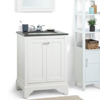 24 vanity with granite top. wyndenhall carlyle 24-inch white bath vanity with black granite top 24