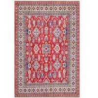Handmade Herat Oriental Afghan Tribal Kazak Wool Rug  - 7'2 x 10'9 (Afghanistan)