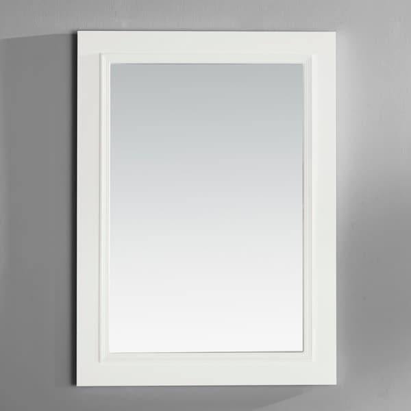 WYNDENHALL Carlyle White Bath Vanity Decor Mirror - Off-White