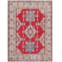 Herat Oriental Afghan Hand-knotted Tribal Kazak Wool Rug (7'5 x 10'4) - 7'5 x 10'4