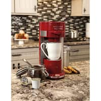 Hamilton Beach Red Programmable Single-serve Coffee Maker with 10-ounce Water Reservoir