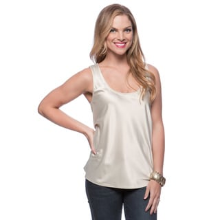 Andrew Charles Women's Oyster Grey Criss-cross Tank Size Small