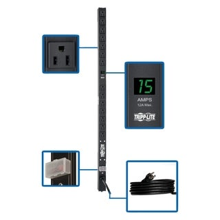 Tripp Lite PDU Metered 120V 15A 5-15R 14 Outlet 5-15P 36 Inch Height