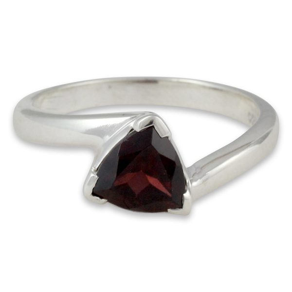 8278d30e313c59 Handmade Sterling Silver 'Scintillating Jaipur' Garnet Ring ...