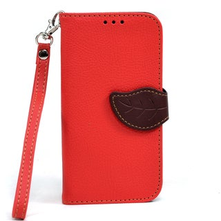 Dasein Faux Leather Leaf Wallet Phone Case for Samsung Galaxy S4