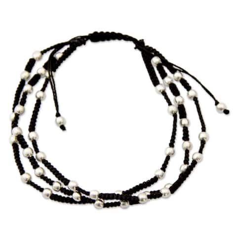 Handmade Sterling Silver 'Delhi Casual' Bracelet (India)
