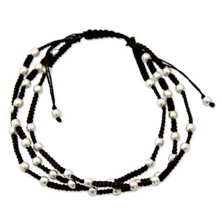 Handmade Sterling Silver 'Delhi Casual' Bracelet (India)