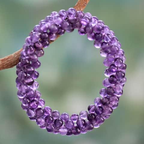 NOVICA Handmade Amethyst 'Love Song' Bracelet (India)