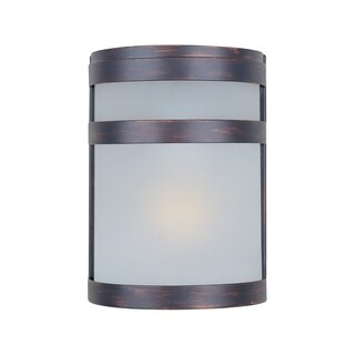 Maxim Steel Arc Steel Stainless Steel Frosted Shade 2-light Outdoor Wall Mount Light