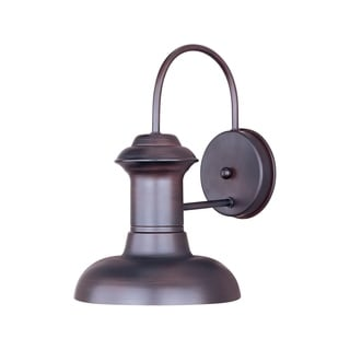 Maxim Bronze Wharf 1-light Aluminum Shade Outdoor Wall Mount Light