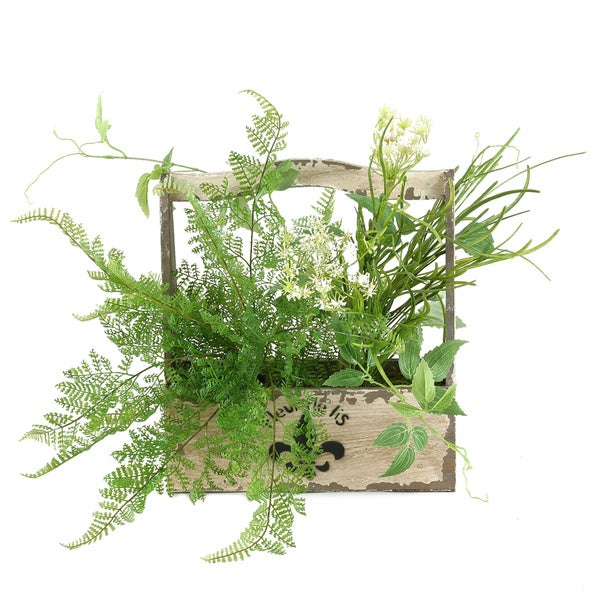 Shop D Amp W Silks Lace Fern Pearl Grass And Dill Spray In