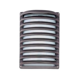 Maxim Bronze Aluminum White Shade Zenith EE 1-light Outdoor Wall Mount Light