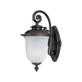 Maxim Die Cast Aluminum Frost Crackle Shade Cambria DC 2-light Outdoor Wall Mount Light