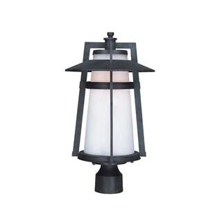 Maxim Aluminum Shade Calistoga EE 1-light Outdoor Pole/ Post Mount Light