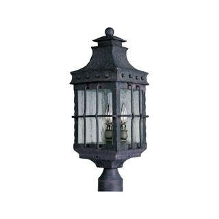 Maxim Iron Iron Iron Shade Nantucket 3-light Outdoor Pole/ Post Mount Light