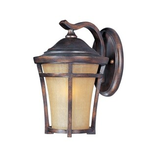 Maxim Copper Balboa Copper Vivex Golden Frost Shade 1-light Outdoor Wall Mount Light