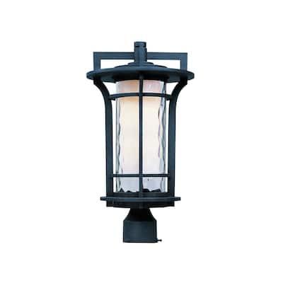 Maxim Aluminium Shade Oakville 1-light Outdoor Pole/ Post Mount Light