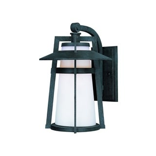 Link to Maxim Die Cast Aluminum Satin White Shade Calistoga LED 1-light Outdoor Wall Mount Light Similar Items in Electrical