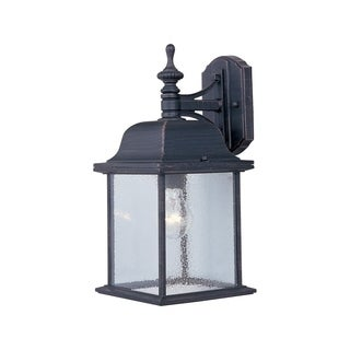 Maxim Rust Die Cast Aluminum Shade Senator 1-light Outdoor Wall Mount Light