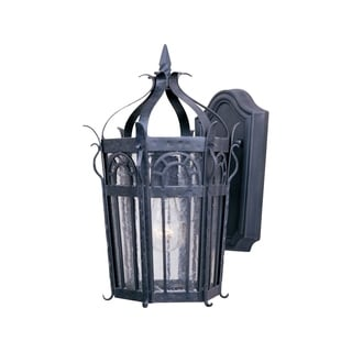 Maxim Iron Iron Forged Iron Shade Cathedral 1-light Outdoor Wall Mount Light