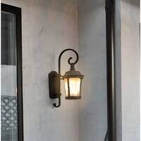 Maxim Bronze Die Cast Aluminum Frosted Seedy Shade Dover EE 1-light Outdoor Wall Mount Light