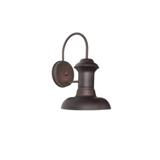 Maxim Wharf Bronze Aluminum Shade 1-light Outdoor Wall Mount Light