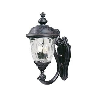 Maxim Bronze Vivex Water Glass Shade Carriage House 2-light Outdoor Wall Mount Light