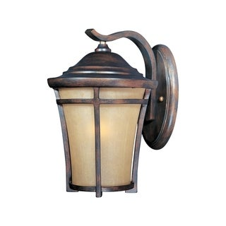 Maxim Copper Copper Vivex Golden Frost Shade Balboa 1-light Outdoor Wall Mount Light