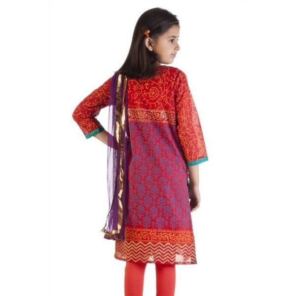 Pants MB Girls Indian Kurta Tunic with Churidar and Dupatta Scarf
