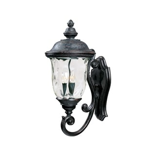 Maxim Bronze Vivex Water Glass Shade Carriage House 3-light Outdoor Wall Mount Light
