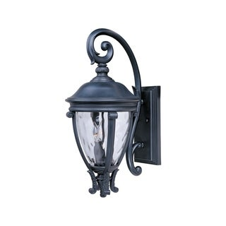 Maxim Black Vivex Water Glass Shade Camden 3-light Outdoor Wall Mount Light