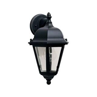 Maxim Black Die Cast Clear Shade Westlake 1-light Outdoor Wall Mount Light