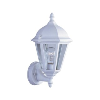 Maxim Westlake White Die Cast Clear Shade 1-light Outdoor Wall Mount Light