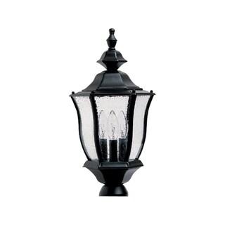 Maxim Bronze Aluminium Shade Madrona 3-light Outdoor Pole/ Post Mount Light
