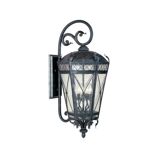 Maxim Canterbury Bronze Forged Iron Shade 3-light Outdoor Wall Mount Light