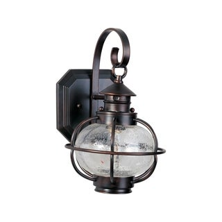 Maxim Bronze Seedy Shade Portsmouth 1-light Outdoor Wall Mount Light
