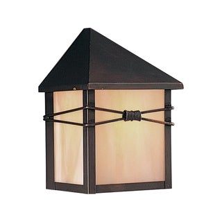 Maxim Stainless Steel Shade Taliesin 1-light Outdoor Wall Mount Light