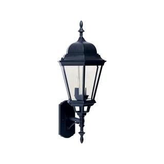 Maxim Black Die Cast Clear Shade Westlake 3-light Outdoor Wall Mount Light